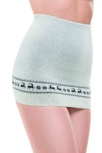 Medima ThermoAS Rückenwärmer mit Stickerei Hirschmotiv naturmelange (Größe: M)