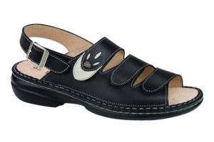 FinnComfort Sandale SALONIKI  schwarz/jasmin (Größe: 40)