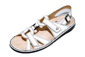 FinnComfort Sandale Timor weiss  Nappa (Größe: 39)