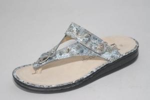 FinnComfort Zehensteg-Sandale ALEXANDRIA-S aqua (Größe: 37)