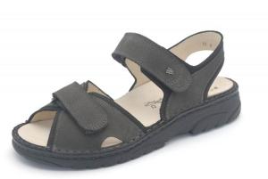FinnComfort Herren-Sandale Colorado grau/schwarz (Größe: 9 1/2)