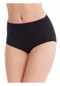 Medima Classic Damen-Taillenslip 20%  Angora schwarz (Größe: S)