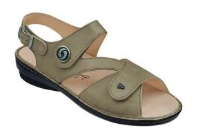 FinnComfort Damen Sandale Lombok taupe (Größe: 38)