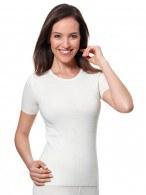 Medima Classic  Damen-Hemd 1/4 Arm mit Angora-Frottee Verstärkung innen weiß (Größe: S)