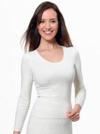 Medima Classic  Damen-Spencer 1/1 Arm 20% Angora weiß verkürztes Leibteil (Größe: S)