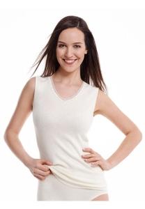 Medima Classic  Damen-Hemd ohne Arm  40%  Angora weiß (Größe: L)