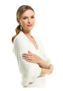 Medima Classic Damen-Leseschal  50%  Angora weiß
