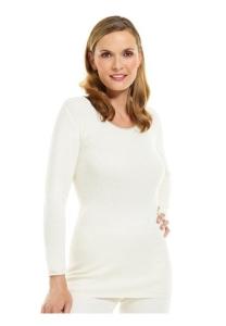 Medima Classic Damen-Hemd 1/1 Arm  50%  Angora weiß (Größe: L)