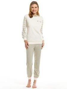 Medima Classic Damen-Pyjama 1/1 Arm, natur (Größe: S)