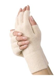 Medima Classic ThermoAS Handschuhe 1/2 Finger, schwarz