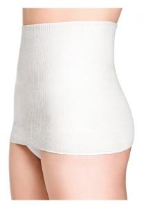 Medima Classic ThermoAS Rückenwärmer mit Seide, Ganzjahresschutz weiß (Größe: L)