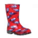 Kamik Gummistiefel rot mit Fußbällen KICK OFF, Gr. 25 + 26 (Kick off rot: Gr. 9 = 26)