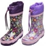 Playshoes Gummistiefel Flora lila, Gr. 20/21 (Flora - lila: Gr. 26/27 - 17,5 cm)