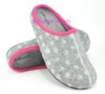 Rohde warme Hausschuhe grau/pink, Gr. 36-39 + 41 (Pantoffel 6112/80: Gr. 38)