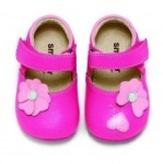 See Kai Run smaller Hausschuhe MIDORI in pink, Gr. 18 + 21 (MIDORI: Gr. 0-6 mo = 18)