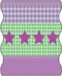 TWISTER Multifunktionstuch in pink/grün Sterne