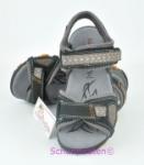 Superfit Sandale schwarz/grau orangen Nähten, Gr.  38 (Sandale 6-447-02: Gr. 38)