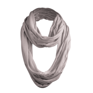 Masterdis - Wrinkle Loop Scarf - Schlauchschal in hellem grau (heath. light grey)
