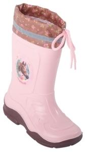 Pferdefreunde Gummistiefel in rosa/braun, Gr. 23 + 34 (WERA: Gr. 23)
