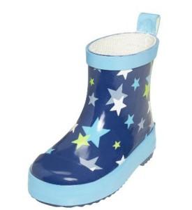 Playshoes halbhoher Gummistiefel Sterne blau, Gr. 18-25 (Sterne blau: Gr. 18)