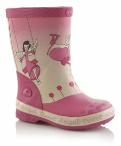 Viking Gummistiefel mit Engel-Design in rosa, Gr. 20-22 + 25 (Angel Mini: Gr. 25)