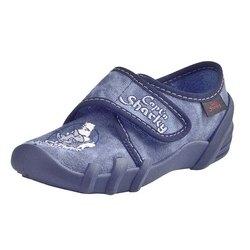 Capt´n Sharky Hausschuhe jeansblau, Gr. 25-27 + 29-33 (Hausschuhe 230184 Jan: Gr. 27)