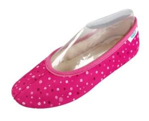 Gymnastikschuhe Arondo pink Tupfen, Gr. 24-35 (pink Tupfen: Gr. 26)