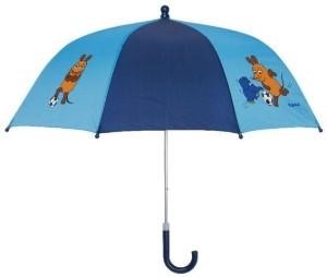 Playshoes Kinder Regenschirm Maus & Elefant Fußball blau