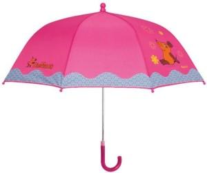Playshoes Kinder Regenschirm Maus Blümchen pink