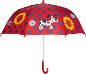 Playshoes Kinder Regenschirm Dalmatiner in rot