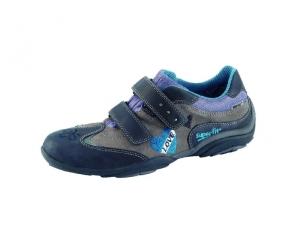 Superfit Sneaker in grau/schwarz mit Herz, Gr. 31-32 (Sneaker 5-208-06: Gr. 32)