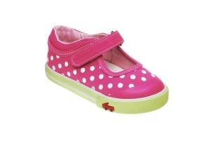 See Kai Run modische Lauflernschuhe / Ballerina aus Stoff Modell ADALYNN Sneakers in pink mit weißen Tupfen, Gr. 21-25 (ADALYNN: Gr. 21)