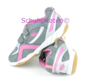 Hallenturnschuhe EVENT INDOOR V in grau/pink, Gr. 34 + 37 (Event Indoor V: Gr. 34)