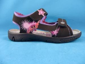 Ricosta Sandale SHARI braun mit rosa Sterne, Gr. 26 + 31 + 32 + 35 (Shari 68217/294: Gr. 26)
