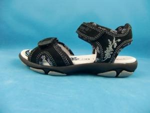 Superfit Sandale für Mädchen 2-fach Klettverschluß in schwarz Gr. 32-33 (Sandale 4-155-02: Gr. 33)