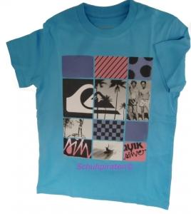 Quiksilver T-Shirt 3 not too late blau, Gr. 164 + 176 (kibje932/blackies blue: Gr. 164 = T14)