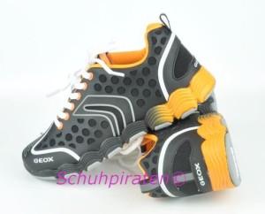 Geox Sport Halbschuhe schwarz/orange, Gr. 34 (J Imolaboy: Gr. 34)