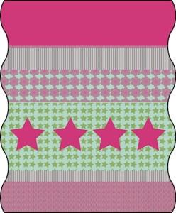 TWISTER FLEECE Multifunktionstuch KIDS in pink, Sterne