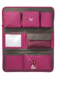 Lässig Car Wrap to Go - Utensilientasche in pink/oliv mit Pilz