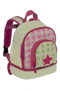 Lässig Kindergarten Rucksack in hellgrün/pink Sterne