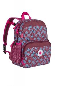 Lässig Kindergarten Rucksack in dunkelrot/pink Blumen