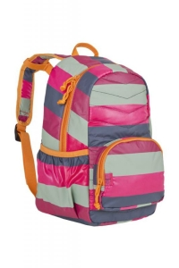 Lässig Kinder Rucksack Quilted pink Streifen