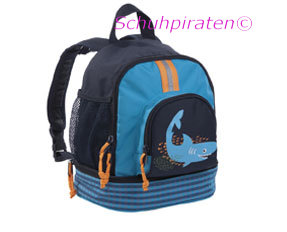 Lässig Kindergarten Rucksack in dunkelblau/türkis mit Hai