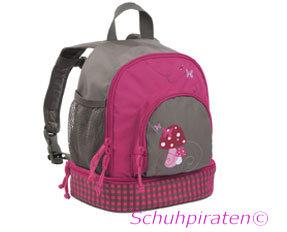 Lässig Rucksack für den Kindergarten in pink/oliv mit Pilz