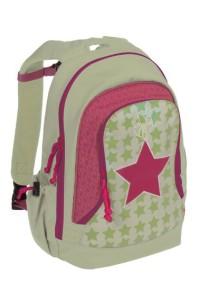 Lässig Rucksack in pink/hellgrün mit Sternen