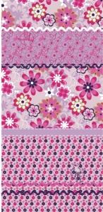 TWISTER Multifunktionstuch in pink mit Blumenfolkloremuster