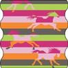 TWISTER Multifunktionstuch in bunt gestreift mit Pferdemotiv