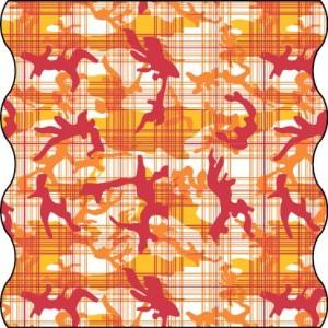 TWISTER Multifunktionstuch in orange Camouflage (Adult)