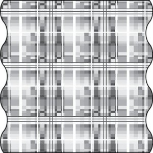 TWISTER Multifunktionstuch in weiß/grau Aurora (Adult)