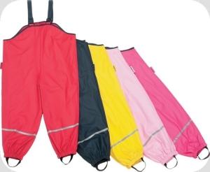 Playshoes Kinder Regen Latzhose mit Textilfutter dunkelblau (Latzhose dunkelblau Textilfutter: Gr. 86)